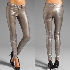 J Brand Silver Coated Skinny Jean